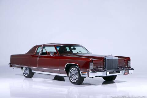 1977 Lincoln Continental for sale at Motorcar Classics in Farmingdale NY
