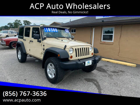 2011 Jeep Wrangler Unlimited for sale at ACP Auto Wholesalers in Berlin NJ