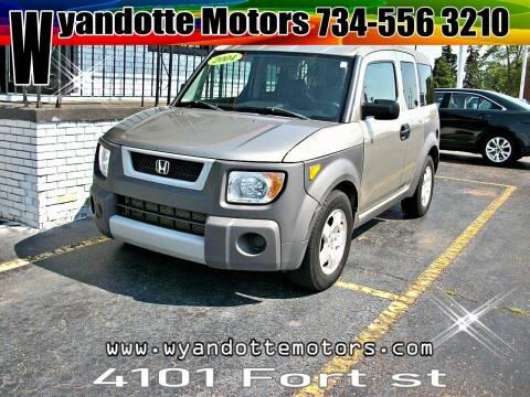 2004 Honda Element for sale at Wyandotte Motors in Wyandotte MI
