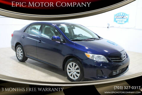 2013 Toyota Corolla for sale at Epic Motor Company in Chantilly VA