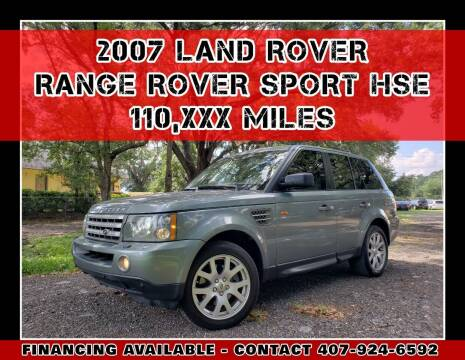 2007 Land Rover Range Rover Sport for sale at AFFORDABLE ONE LLC in Orlando FL