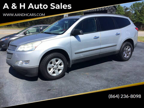 2011 Chevrolet Traverse for sale at A & H Auto Sales in Greenville SC