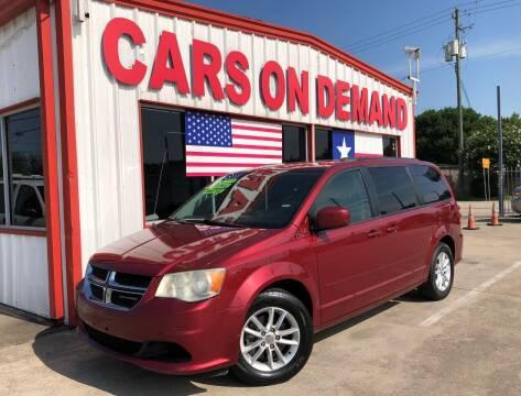2014 Dodge Grand Caravan for sale at Cars On Demand 2 in Pasadena TX