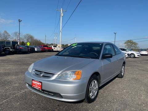 2002 Honda Civic for sale at Carmans Used Cars & Trucks in Jackson OH