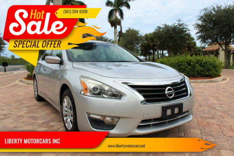 2013 Nissan Altima for sale at LIBERTY MOTORCARS INC in Royal Palm Beach FL