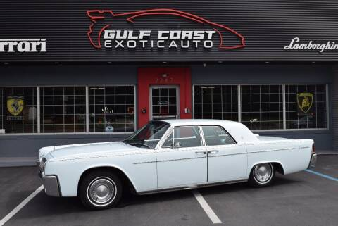 1963 Lincoln Continental for sale at Gulf Coast Exotic Auto in Biloxi MS