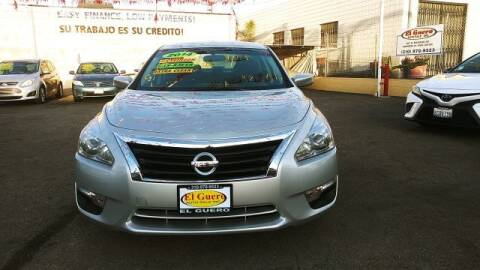 2014 Nissan Altima for sale at El Guero Auto Sale in Hawthorne CA