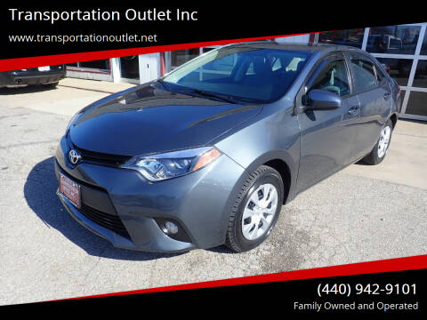 2016 Toyota Corolla for sale at Transportation Outlet Inc in Eastlake OH