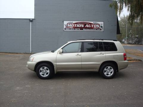2001 Toyota Highlander for sale at Motion Autos in Longview WA