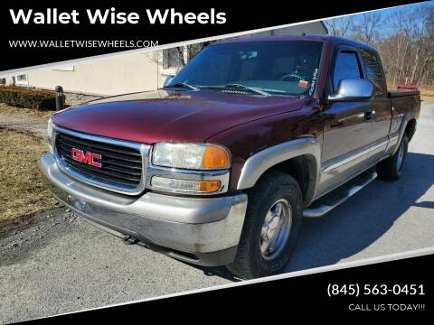 2002 GMC Sierra 1500 for sale at Wallet Wise Wheels in Montgomery NY