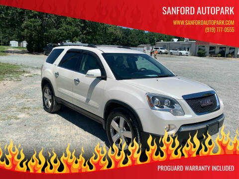 2010 GMC Acadia for sale at Sanford Autopark in Sanford NC