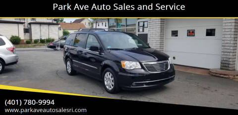 2016 Chrysler Town and Country for sale at Park Ave Auto Sales and Service in Cranston RI