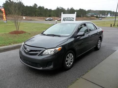 2012 Toyota Corolla for sale at Anderson Wholesale Auto in Warrenville SC