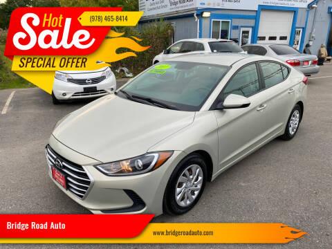 2017 Hyundai Elantra for sale at Bridge Road Auto in Salisbury MA