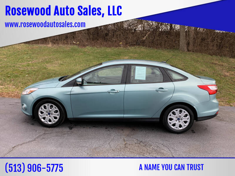 2012 Ford Focus for sale at Rosewood Auto Sales, LLC in Hamilton OH