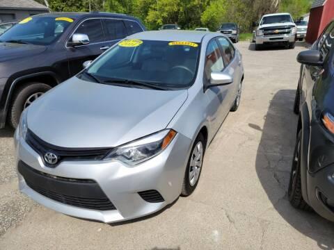 2014 Toyota Corolla for sale at Clare Auto Sales, Inc. in Clare MI