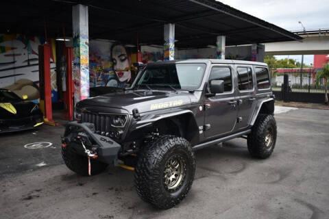 2018 Jeep Wrangler Unlimited for sale at ELITE MOTOR CARS OF MIAMI in Miami FL