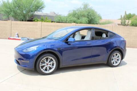 2021 Tesla Model Y for sale at CLASSIC SPORTS & TRUCKS in Peoria AZ