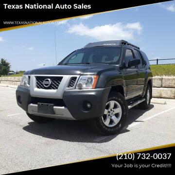 2012 Nissan Xterra for sale at Texas National Auto Sales in San Antonio TX