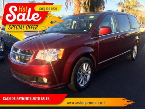 2018 Dodge Grand Caravan for sale at CASH OR PAYMENTS AUTO SALES in Las Vegas NV