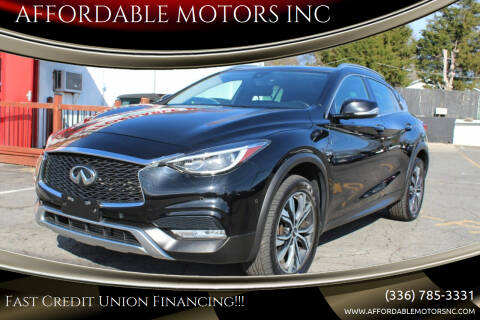 2017 Infiniti QX30 for sale at AFFORDABLE MOTORS INC in Winston Salem NC