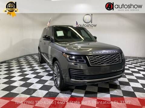 2018 Land Rover Range Rover for sale at AUTOSHOW SALES & SERVICE in Plantation FL