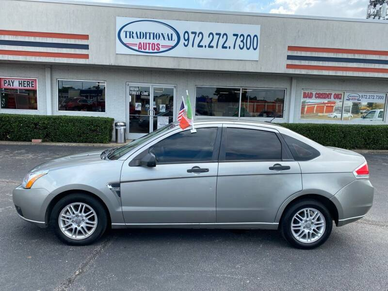 2008 Ford Focus for sale at Traditional Autos in Dallas TX