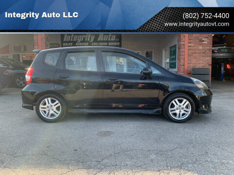 2008 Honda Fit for sale at Integrity Auto LLC in Sheldon VT