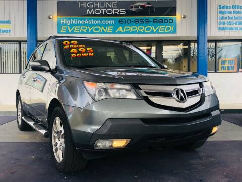 2009 Acura MDX for sale at Highline Motors in Aston PA