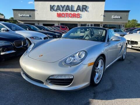 2011 Porsche Boxster for sale at KAYALAR MOTORS in Houston TX