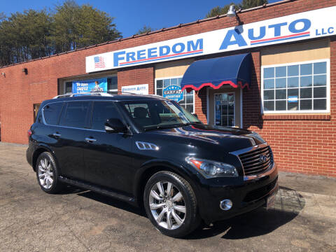 2011 Infiniti QX56 for sale at FREEDOM AUTO LLC in Wilkesboro NC