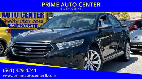 2015 Ford Taurus for sale at PRIME AUTO CENTER in Palm Springs FL