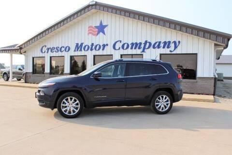 2014 Jeep Cherokee for sale at Cresco Motor Company in Cresco IA