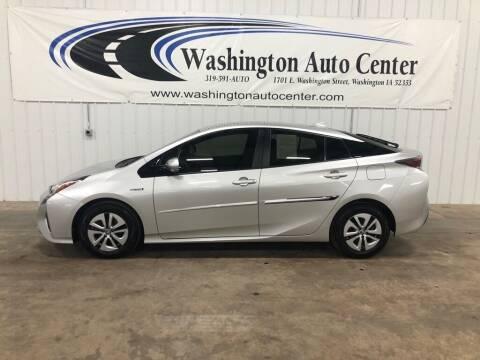 2016 Toyota Prius for sale at Washington Auto Center in Washington IA
