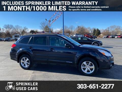 2013 Subaru Outback for sale at Sprinkler Used Cars in Longmont CO
