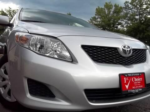 2010 Toyota Corolla for sale at 1st Choice Auto Sales in Fairfax VA