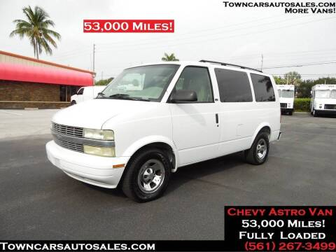 2002 Chevrolet Astro for sale at Town Cars Auto Sales in West Palm Beach FL