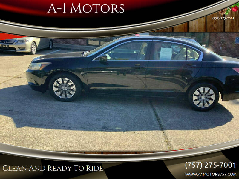 2010 Honda Accord for sale at A-1 Motors in Virginia Beach VA