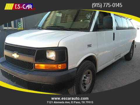 2016 Chevrolet Express Passenger for sale at Escar Auto - 9809 Montana Ave Lot in El Paso TX