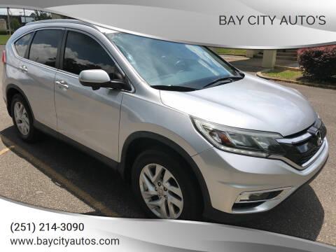 2015 Honda CR-V for sale at Bay City Auto's in Mobile AL
