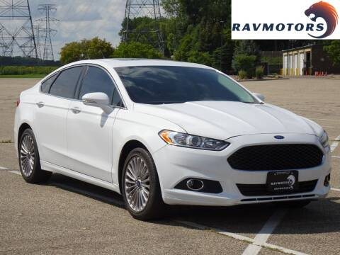 2016 Ford Fusion for sale at RAVMOTORS in Burnsville MN