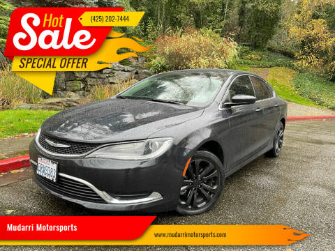 2017 Chrysler 200 for sale at Mudarri Motorsports in Kirkland WA