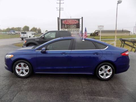 2014 Ford Fusion for sale at MYLENBUSCH AUTO SOURCE in O` Fallon MO