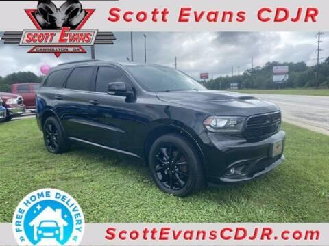 2018 Dodge Durango for sale at SCOTT EVANS CHRYSLER DODGE in Carrollton GA