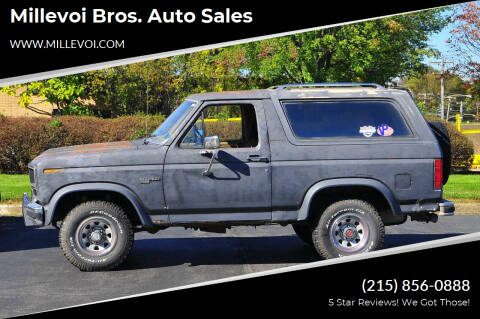 1985 Ford Bronco for sale at Millevoi Bros. Auto Sales in Philadelphia PA