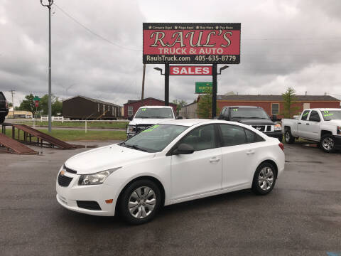 2014 Chevrolet Cruze for sale at RAUL'S TRUCK & AUTO SALES, INC in Oklahoma City OK