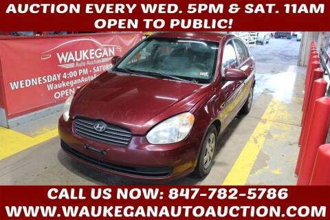 2008 Hyundai Accent for sale at Waukegan Auto Auction in Waukegan IL