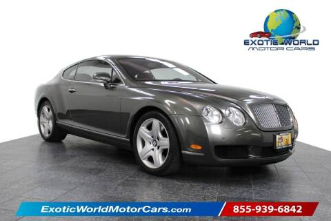 2005 Bentley Continental for sale at Exotic World Motor Cars in Addison TX
