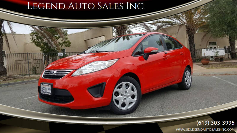 2013 Ford Fiesta for sale at Legend Auto Sales Inc in Lemon Grove CA