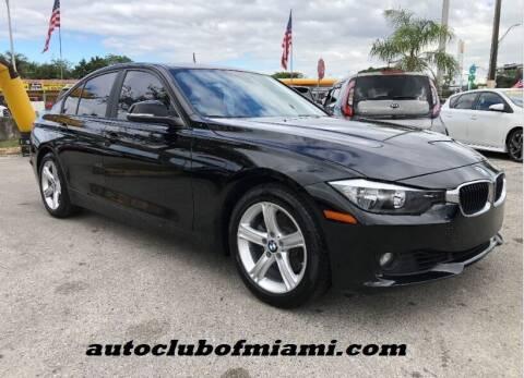 2013 BMW 3 Series for sale at AUTO CLUB OF MIAMI in Miami FL